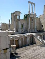 Bulgaria Plovdiv Roman ampitheater ruins 7