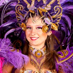 University performing arts groups traveling to Brazil can learn about the national dances and costumes like this one made for Carnival.