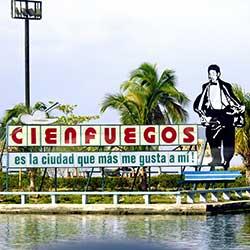 Sign in Cienfuegos, Cuba