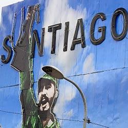 Sign in Santiago, Cuba