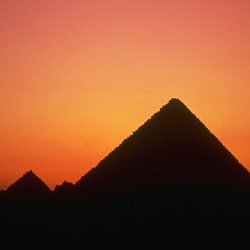 Egypt pyramid sunset