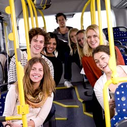 Student kids on bus