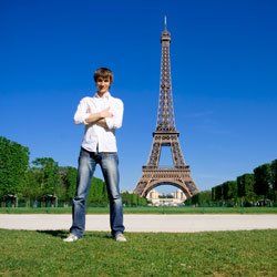 France Eiffel tower guy