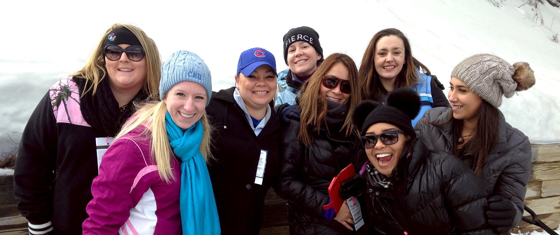 Fellowship Travel employees - Tubing at Wintergreen