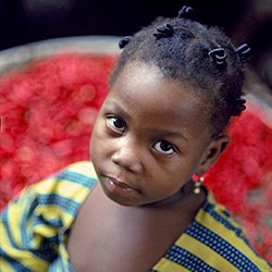 Orphan child in Kenya