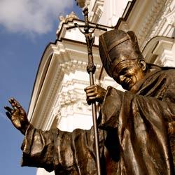 Poland Wadowice Pope John Paul II statue