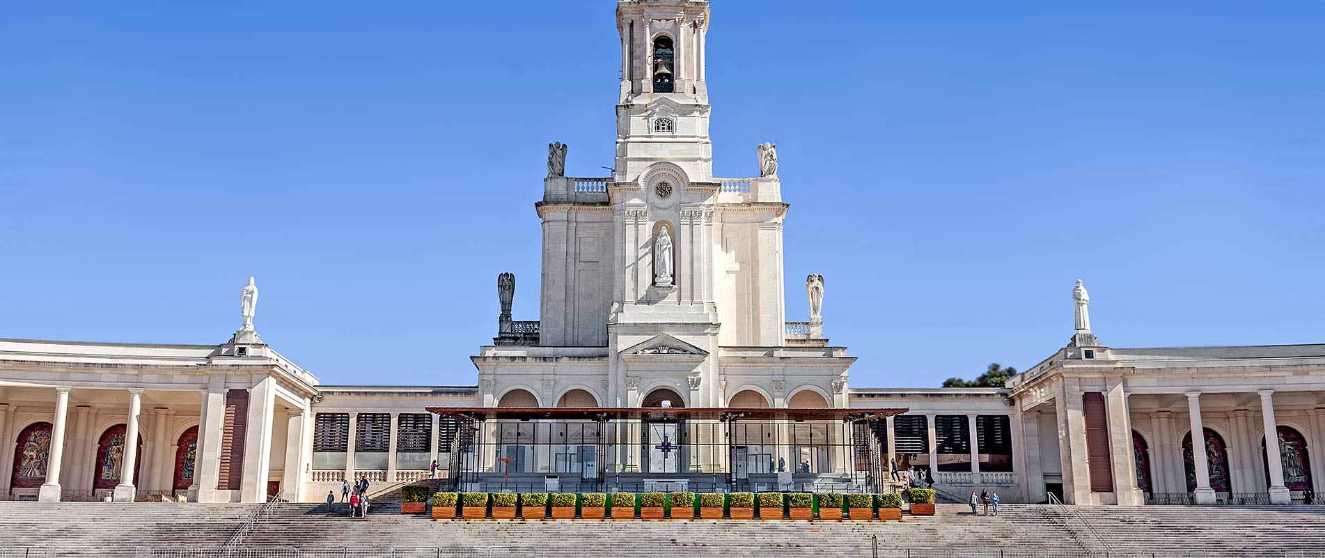The famous Sanctuary of Our Lady of Fatima in Portugal, where Francisco, Jacinta & Lucia were visited by the Blessed Virgin Mary a century ago.