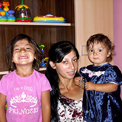 Local woman & her Children at a crisis center in Romania