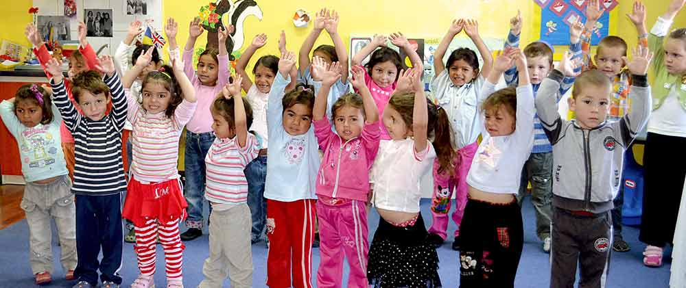 Romanian Kids in a nursery program