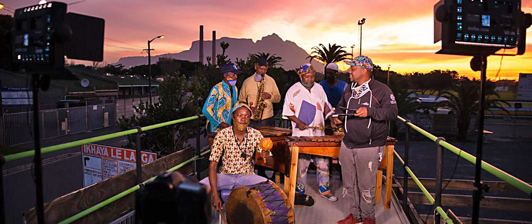 Band playing jazz in South Africa