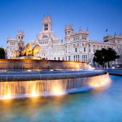 Spain Madrid plaza de la Cibeles
