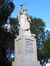 Mt. Carmel, Israel - Statue of Elijah