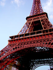Paris, France - Eiffel Tower Closeup